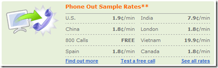 Yahoo! Voice Phone Out Sample Rates