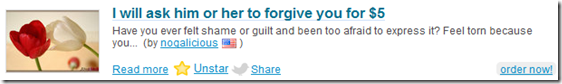 I will ask him or her to forgive you for $5