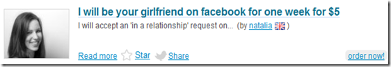 I will be your girlfriend on facebook for one week for $5