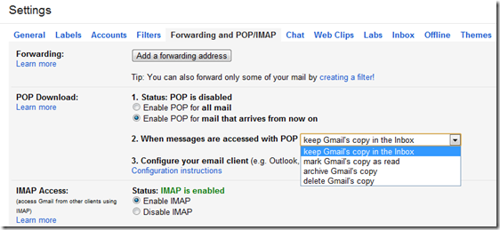 Backup All The Emails In Your Gmail Account With POP