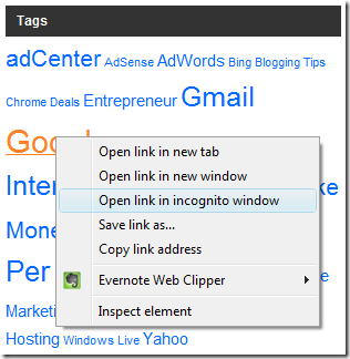 Open Link In Incognito Window