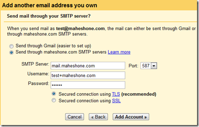 Gmail: Add another email address you own