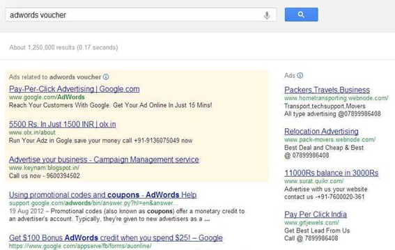 AdWords Voucher - Google Search