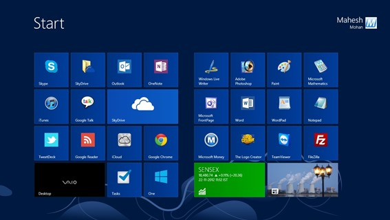 Windows 8 — Start Screen