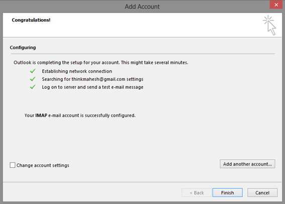 Microsoft Outlook - Add Account