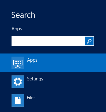 Windows 8 — Search