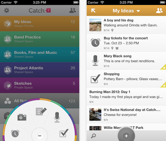 Catch Notes for iOS