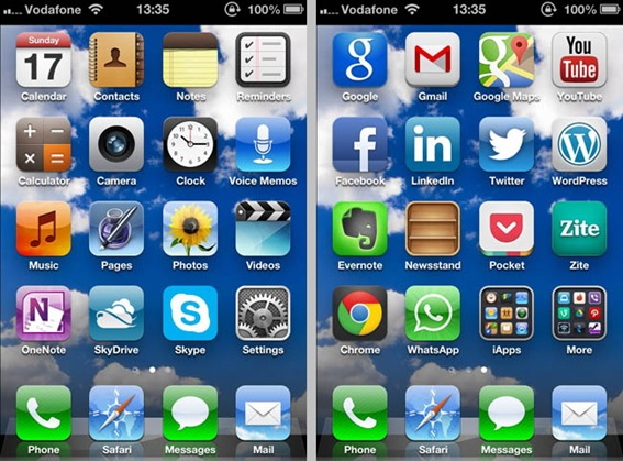 My Apple iPhone Home Screens