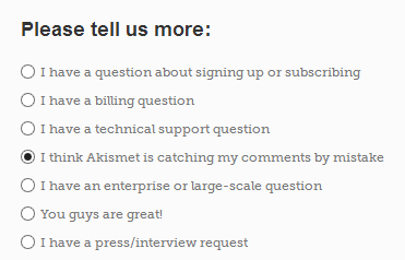 Akismet Contact Form