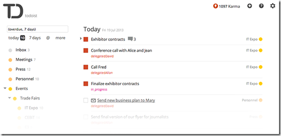 Todoist: Sub-tasks, Sub-projects & Priorities