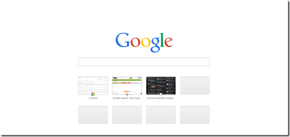Google Chrome New Tab Page