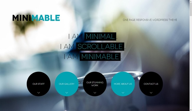 Minimable - Free Responsive WordPress Theme