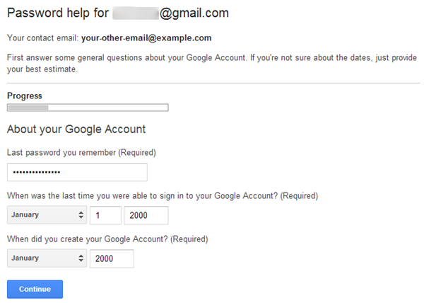 Google Account Recovery Process