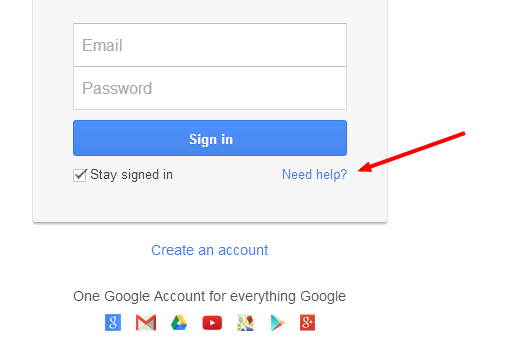 Google Password Help