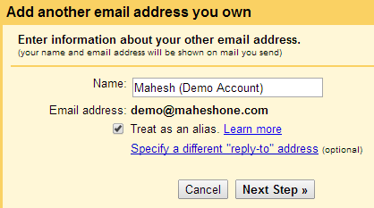 Gmail: Add Another Email Address