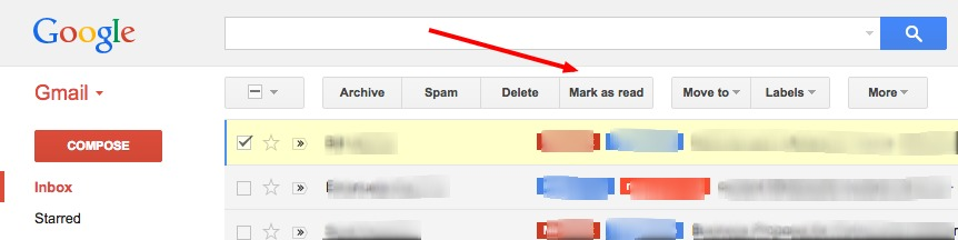 Gmail Mark As Read Button