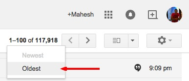 Gmail Newest/Oldest Option