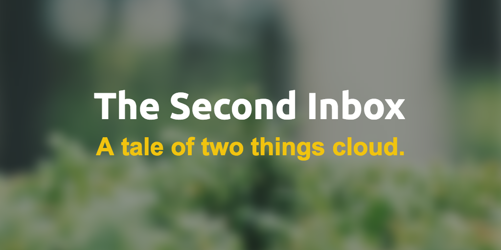 A tale of two things cloud.