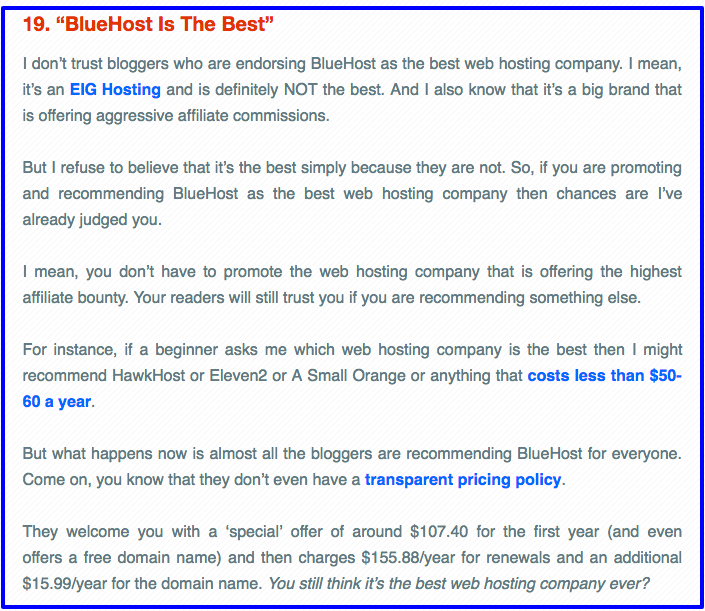 BlueHost Is NOT The Best Host
