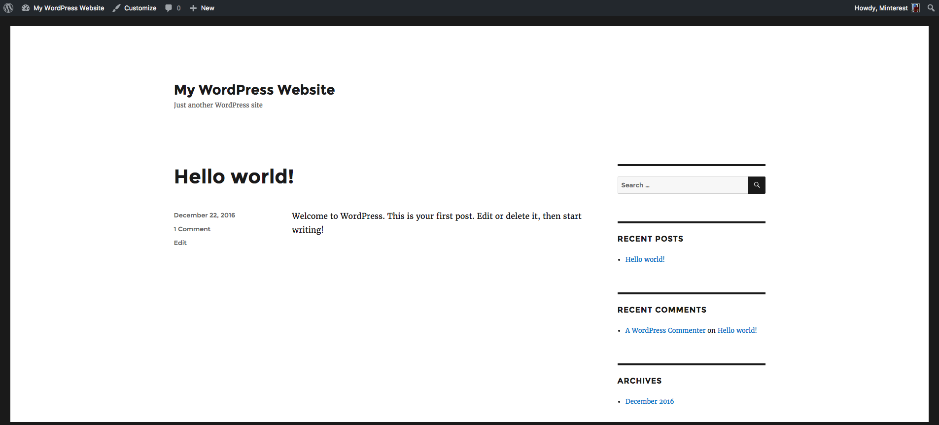 Just another WordPress site