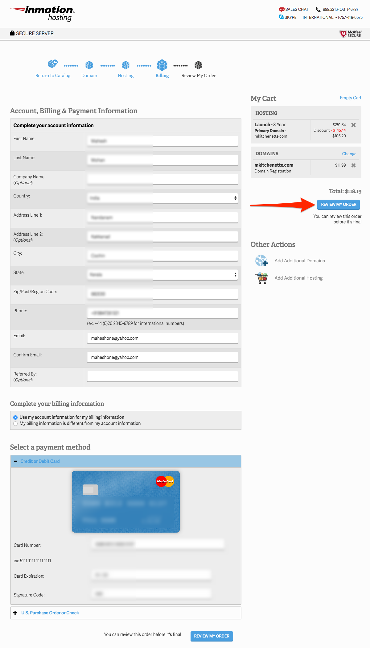 Account, Billing, & Payment Information