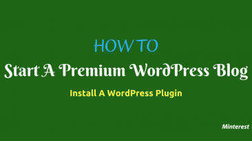 How To Start A WordPress Blog Install A WordPress Plugin