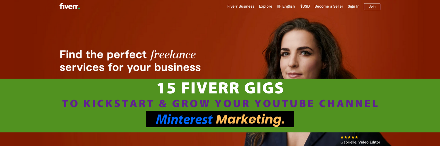 Fiverr Gigs To Start YouTube Channel